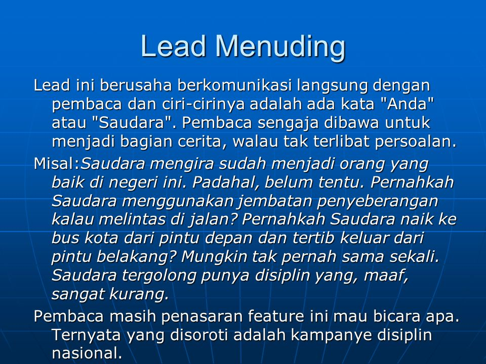 Lead Menuding