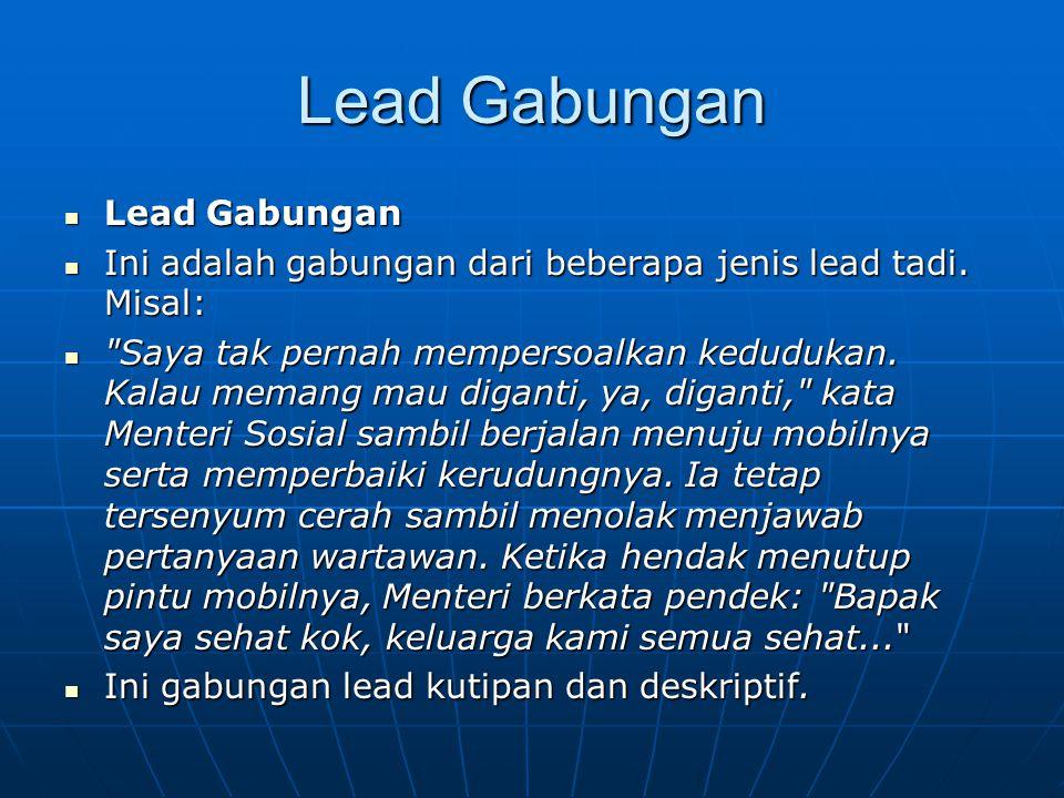 Lead Gabungan Lead Gabungan