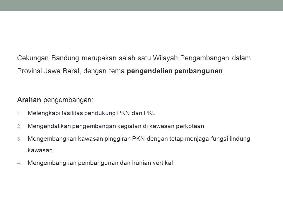 Cekungan Bandung merupakan salah satu Wilayah Pengembangan dalam Provinsi Jawa Barat, dengan tema pengendalian pembangunan