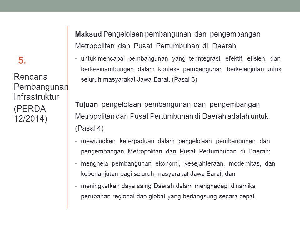 5. Rencana Pembangunan Infrastruktur (PERDA 12/2014)