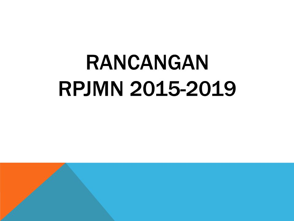 RANCANGAN RPJMN 2015-2019