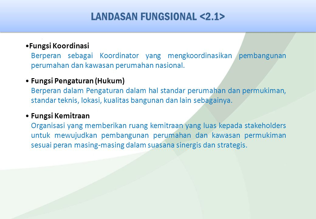 LANDASAN FUNGSIONAL <2.1>