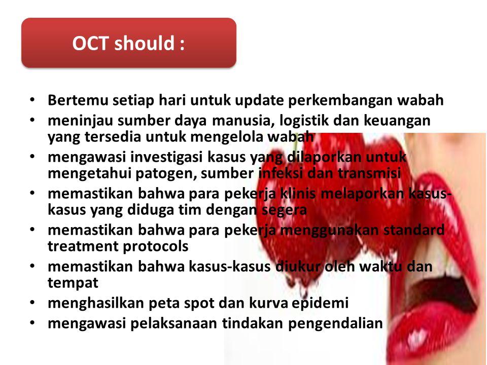 OCT should : Bertemu setiap hari untuk update perkembangan wabah