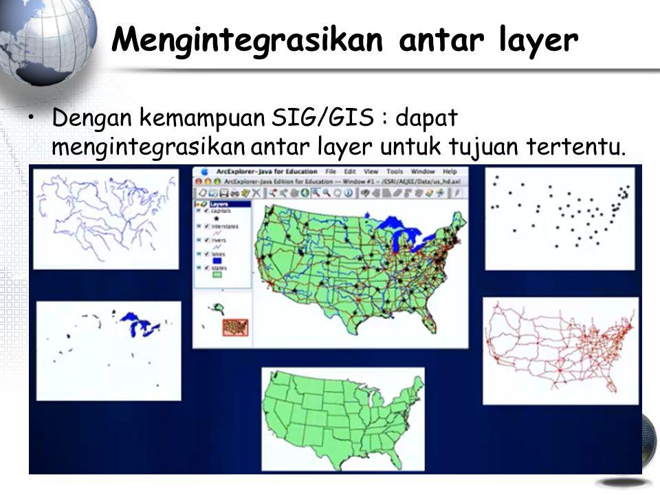 Mengintegrasikan antar layer