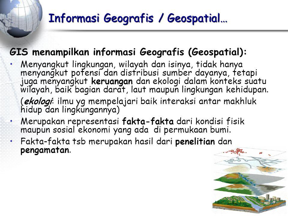 Informasi Geografis / Geospatial…