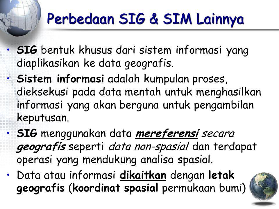 Perbedaan SIG & SIM Lainnya
