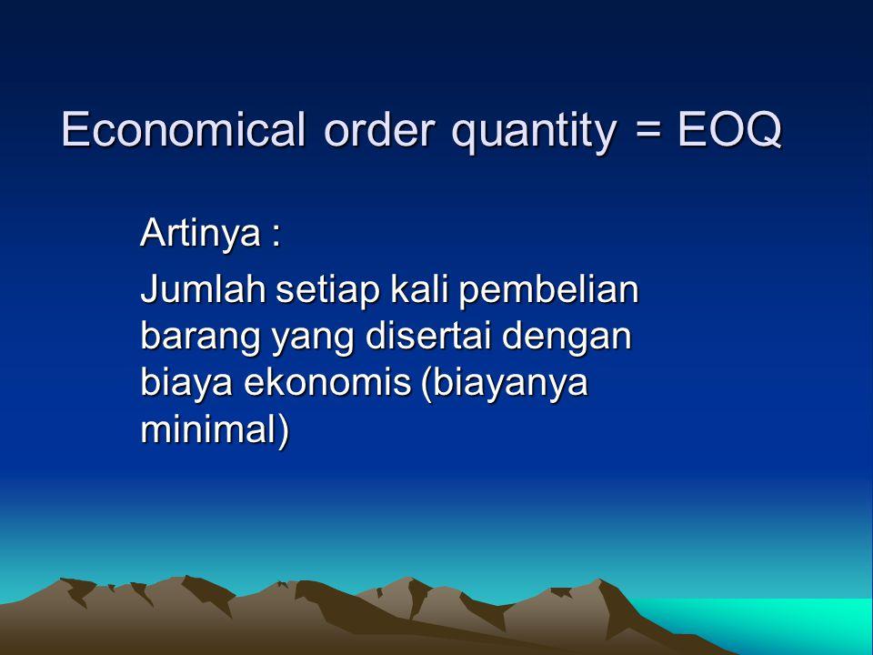 Economical order quantity = EOQ