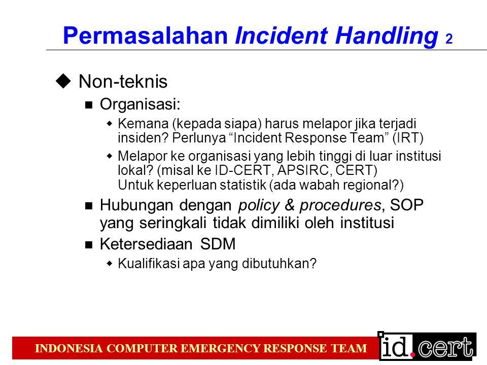 Permasalahan Incident Handling 2