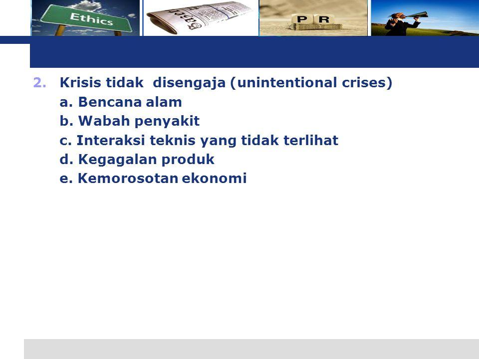 Krisis tidak disengaja (unintentional crises)