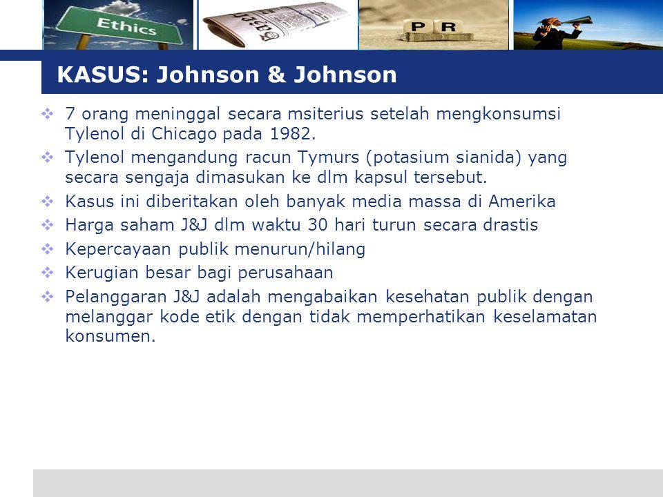 KASUS: Johnson & Johnson