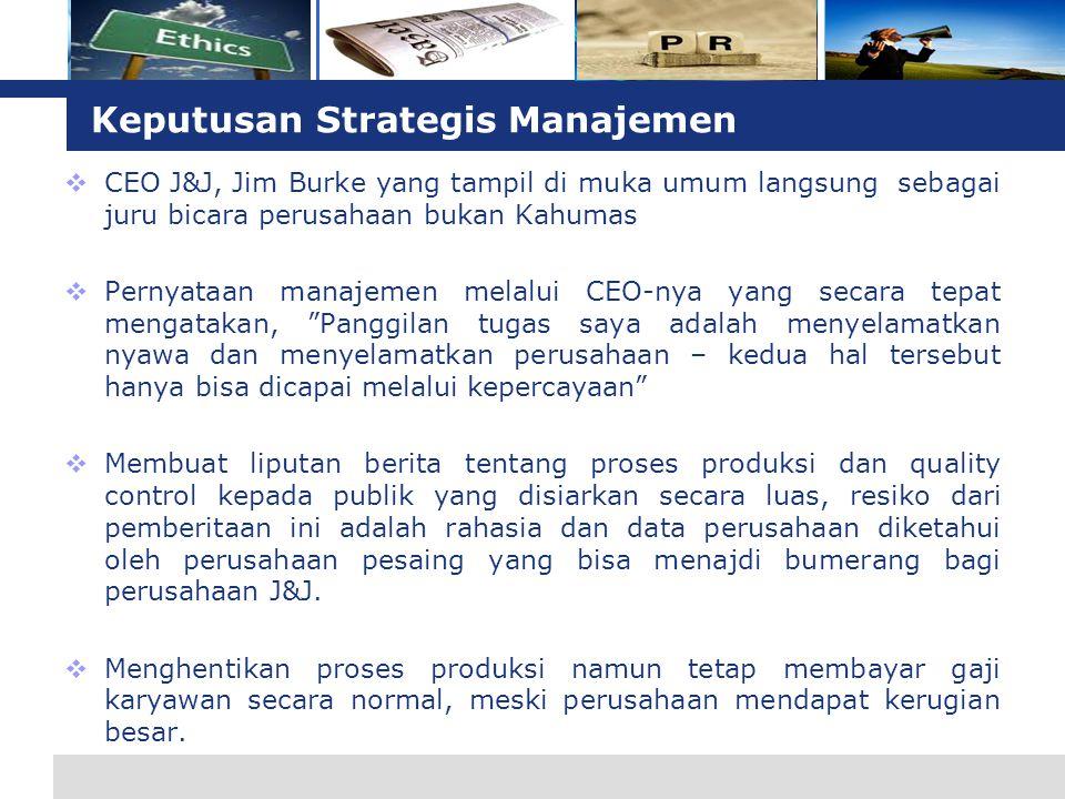 Keputusan Strategis Manajemen
