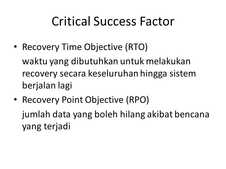 Critical Success Factor