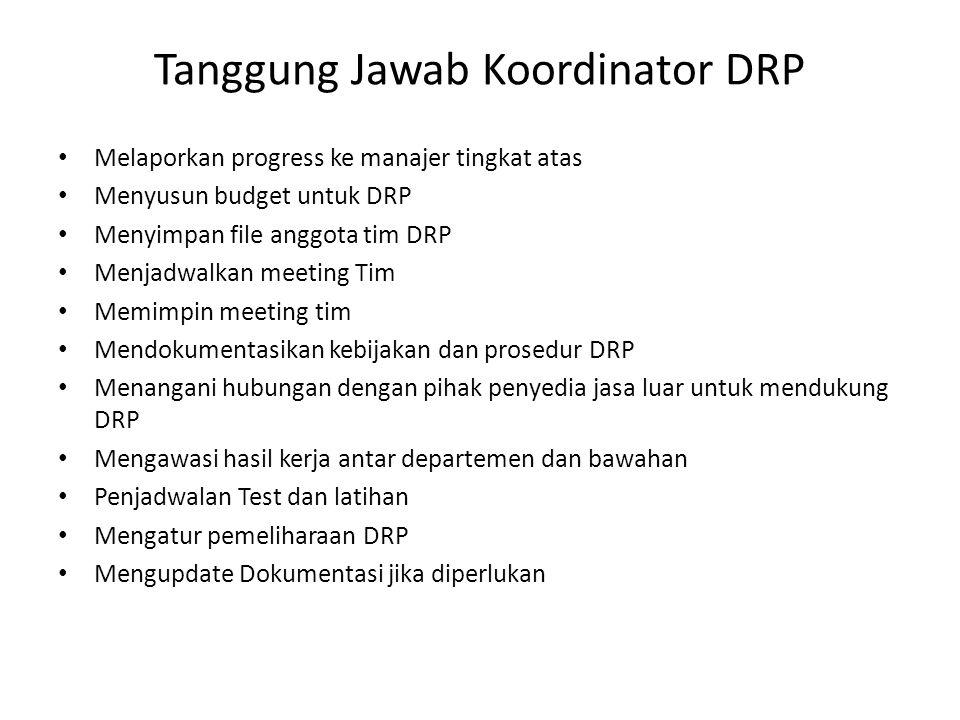 Tanggung Jawab Koordinator DRP