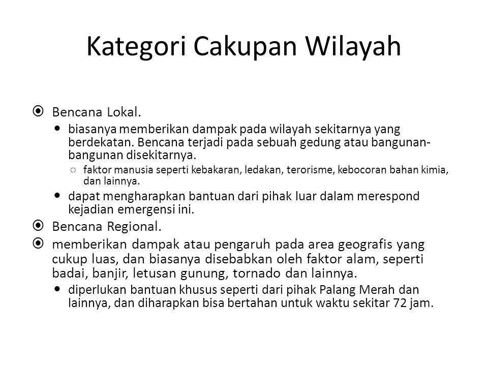 Kategori Cakupan Wilayah