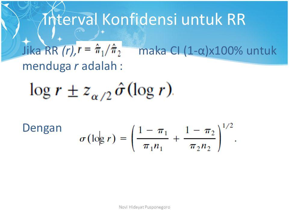 Interval Konfidensi untuk RR