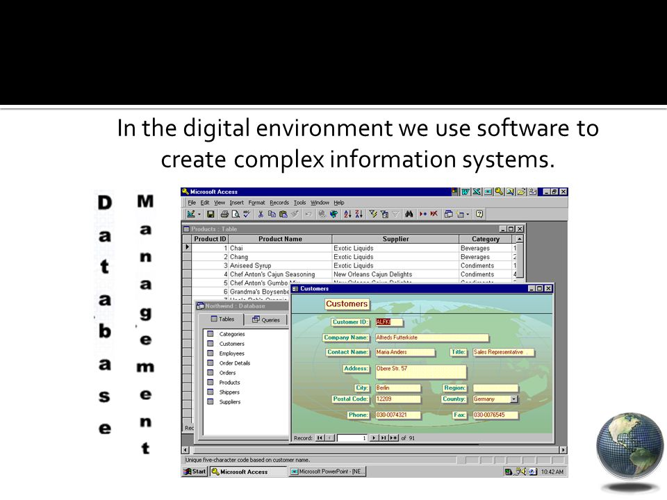 In the digital environment we use software to create complex information systems.