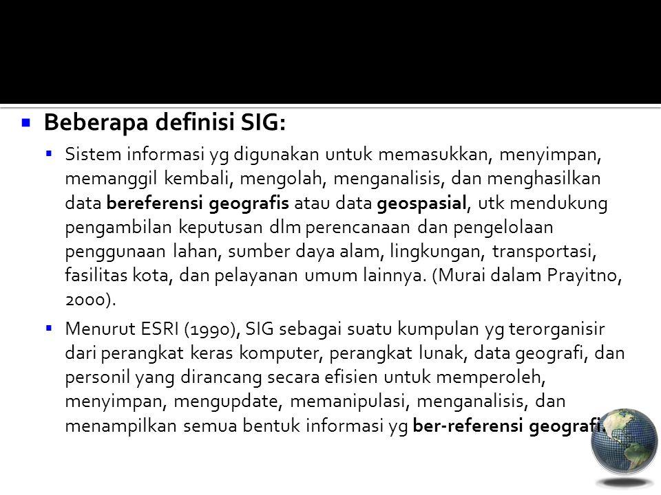 Beberapa definisi SIG: