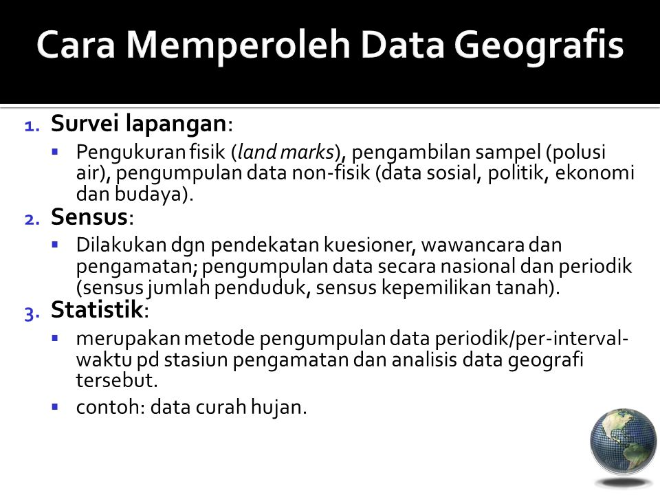 Cara Memperoleh Data Geografis