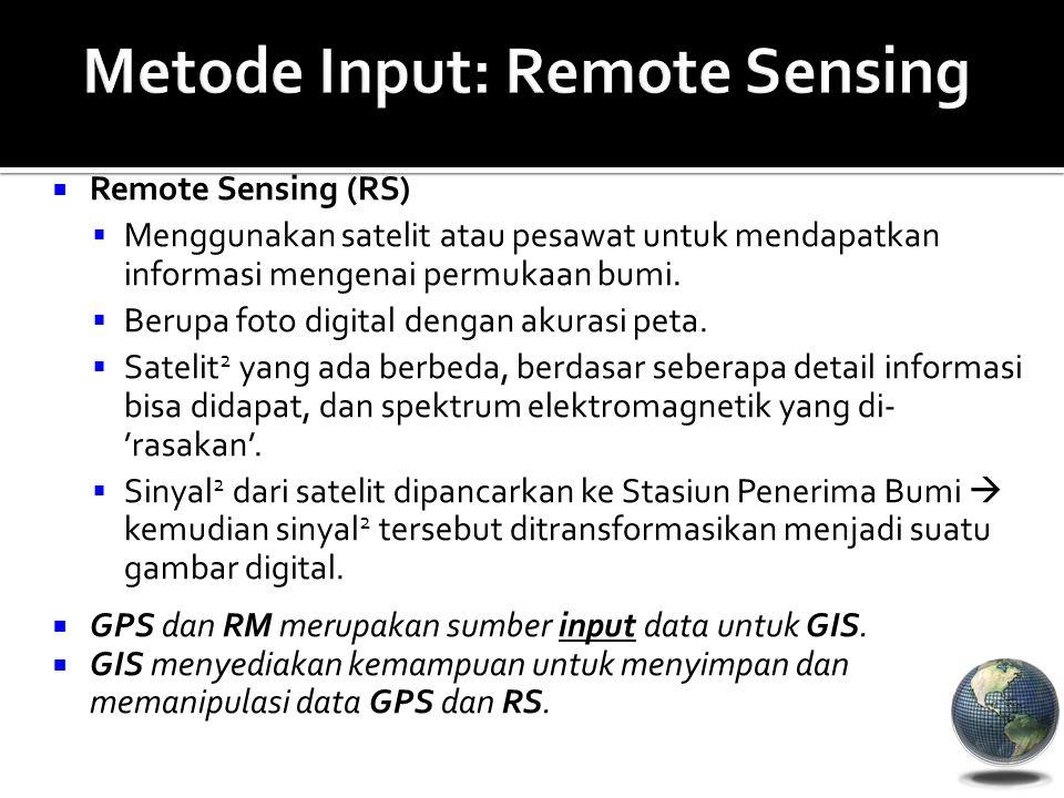 Metode Input: Remote Sensing