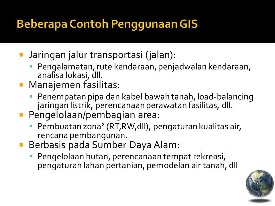 Beberapa Contoh Penggunaan GIS