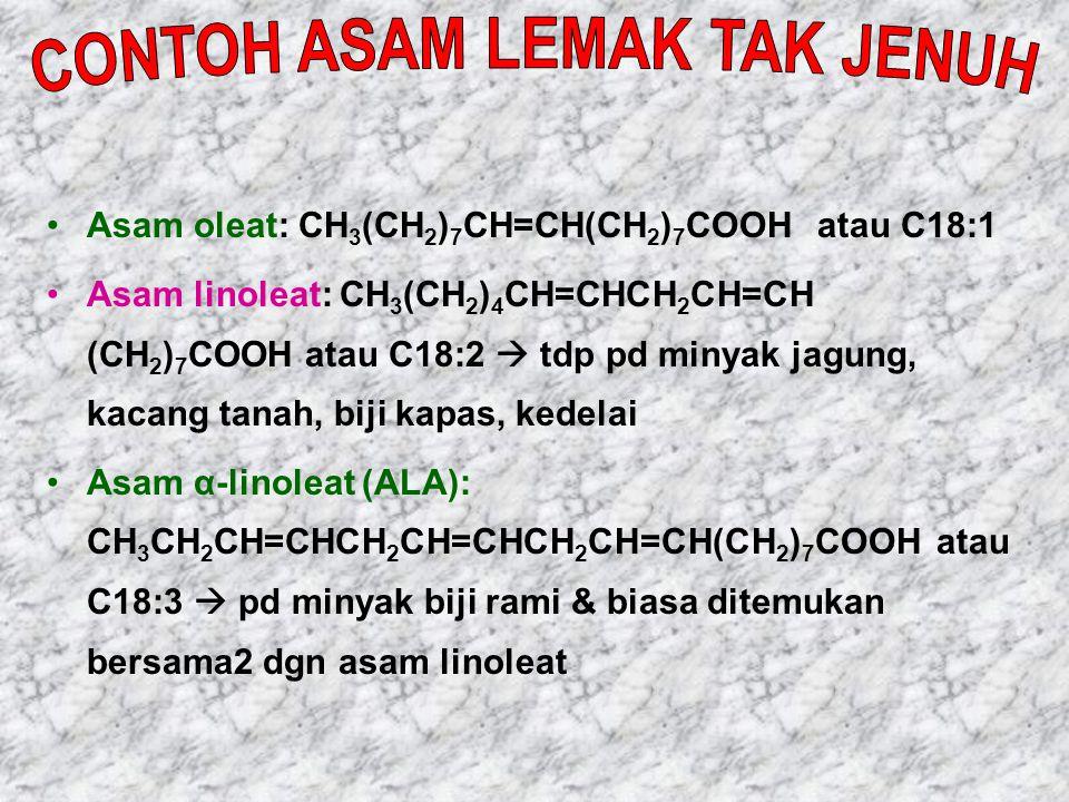 CONTOH ASAM LEMAK TAK JENUH