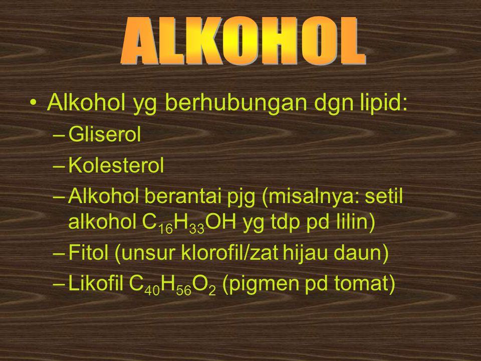 Alkohol yg berhubungan dgn lipid: