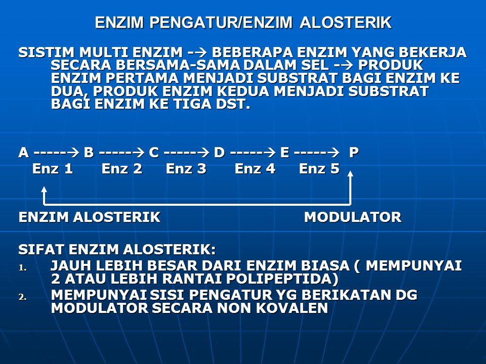 ENZIM PENGATUR/ENZIM ALOSTERIK