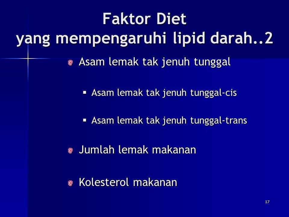Faktor Diet yang mempengaruhi lipid darah..2