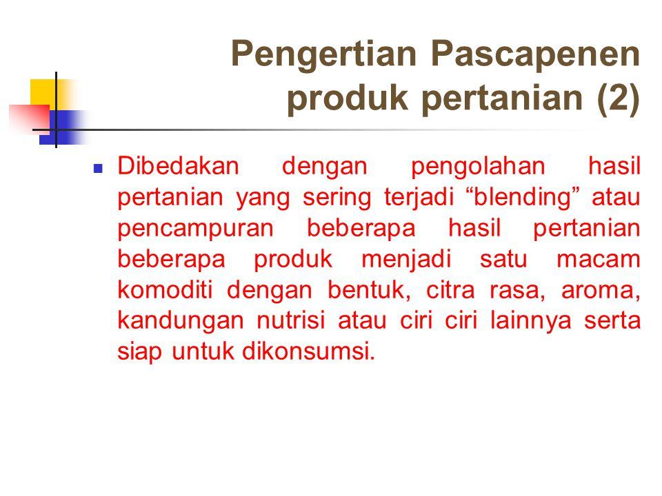 Pengertian Pascapenen produk pertanian (2)