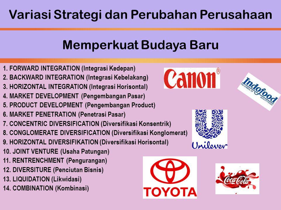 Variasi Strategi dan Perubahan Perusahaan