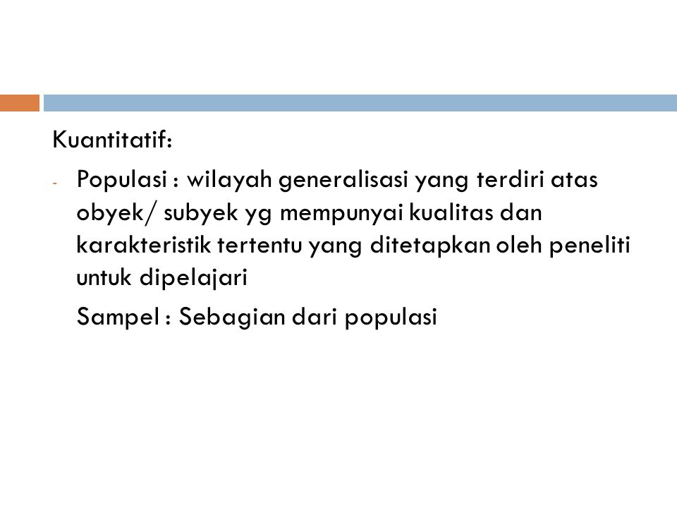 Kuantitatif: