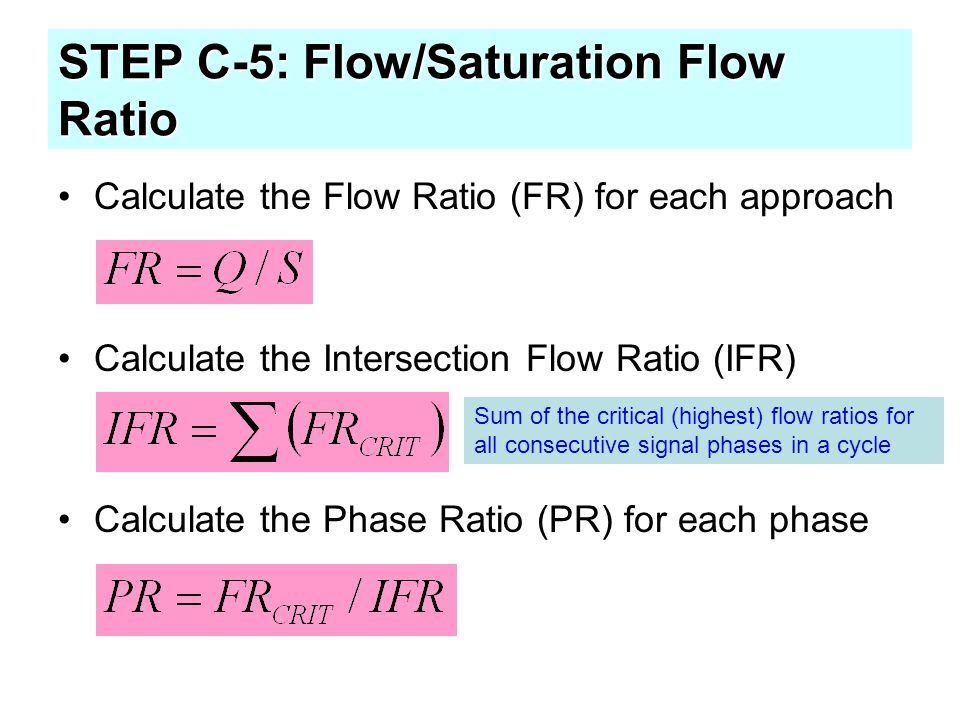 STEP C-5: Flow/Saturation Flow Ratio