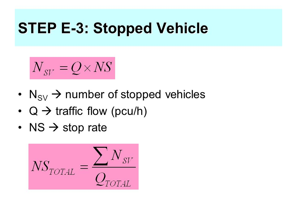 STEP E-3: Stopped Vehicle