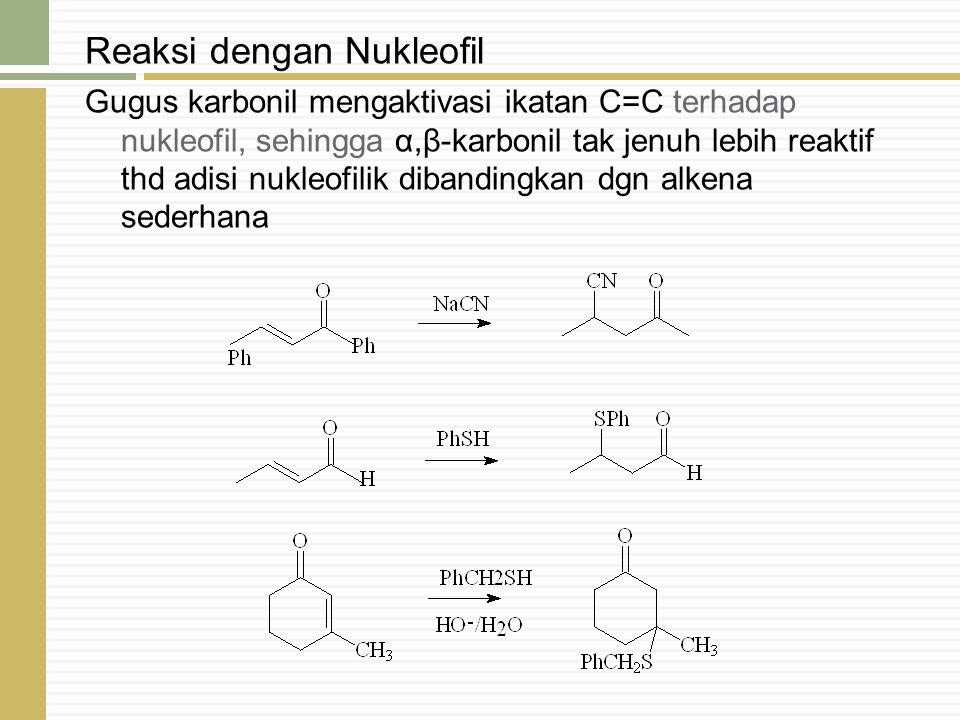 Reaksi dengan Nukleofil