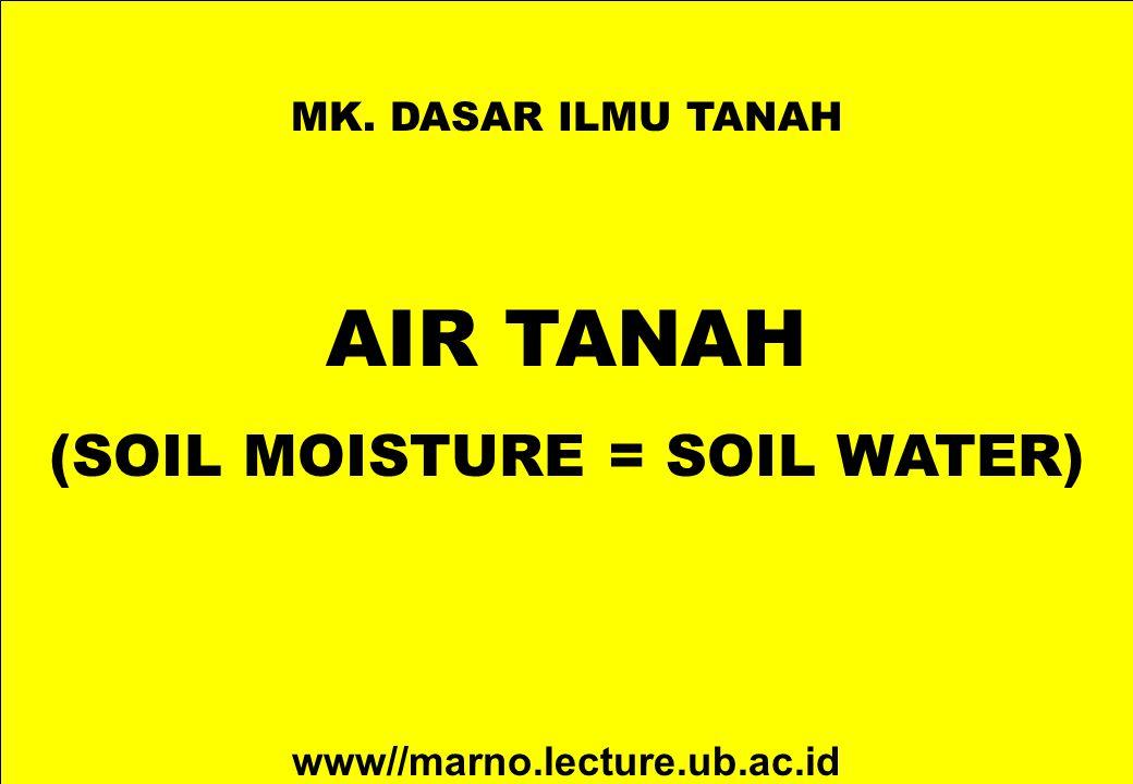(SOIL MOISTURE = SOIL WATER)