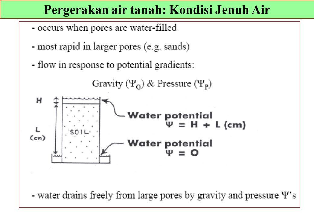 Pergerakan air tanah: Kondisi Jenuh Air