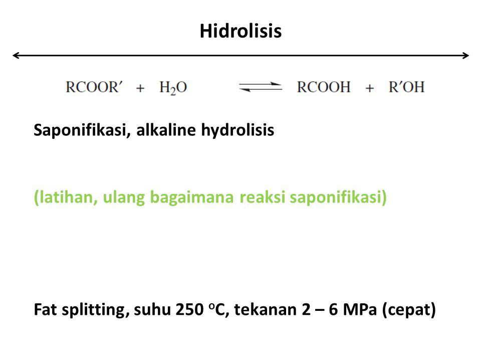 Hidrolisis Saponifikasi, alkaline hydrolisis