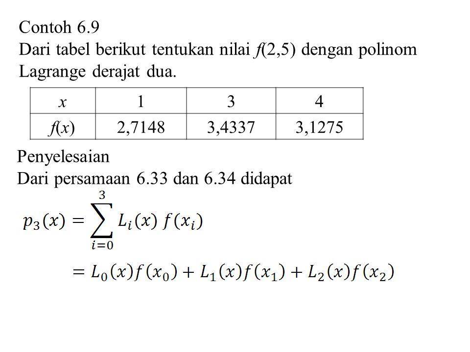 Dari persamaan 6.33 dan 6.34 didapat
