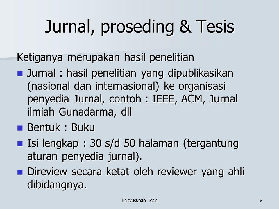 Jurnal, proseding & Tesis