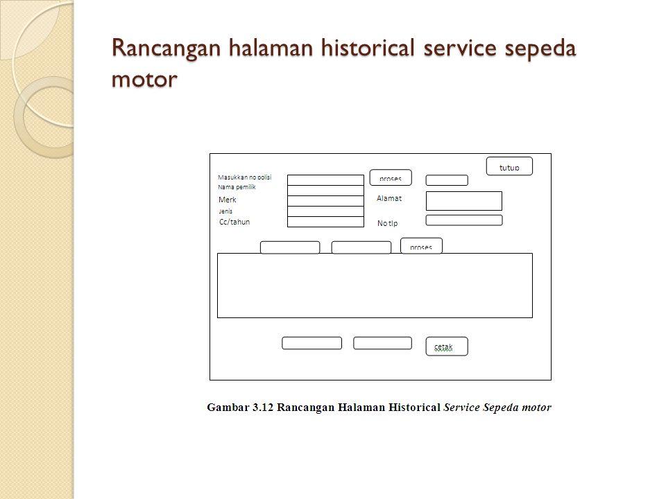 Rancangan halaman historical service sepeda motor