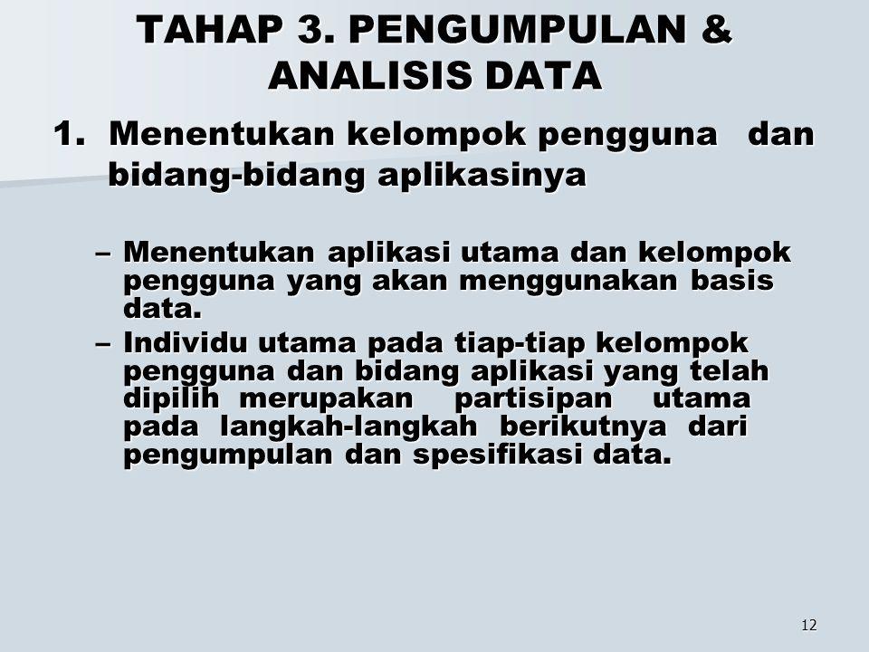 TAHAP 3. PENGUMPULAN & ANALISIS DATA