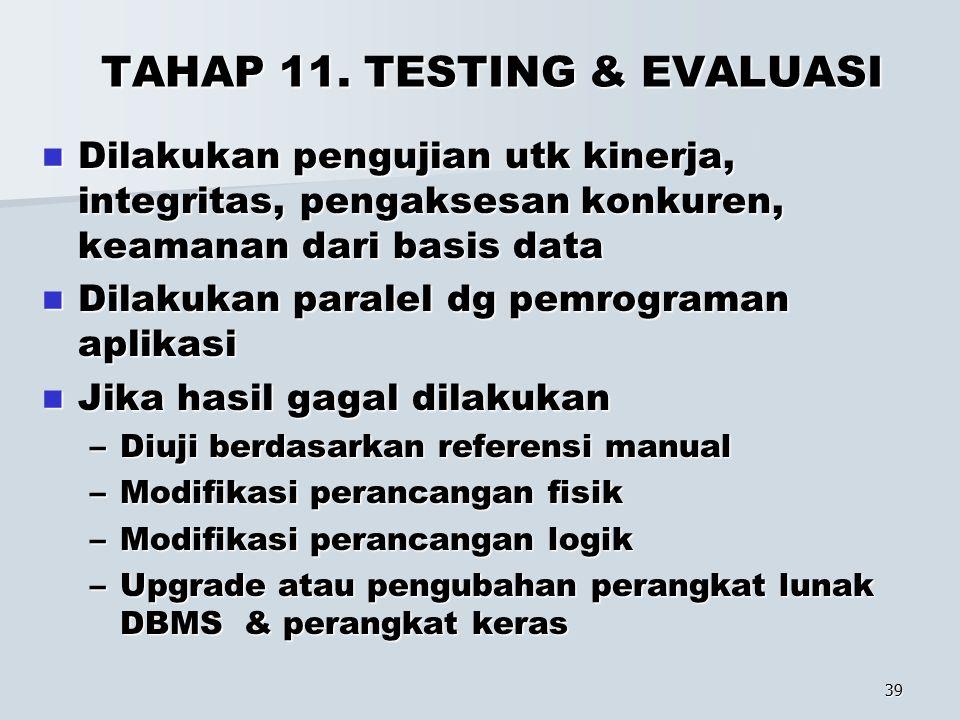 TAHAP 11. TESTING & EVALUASI