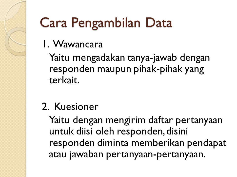 Cara Pengambilan Data