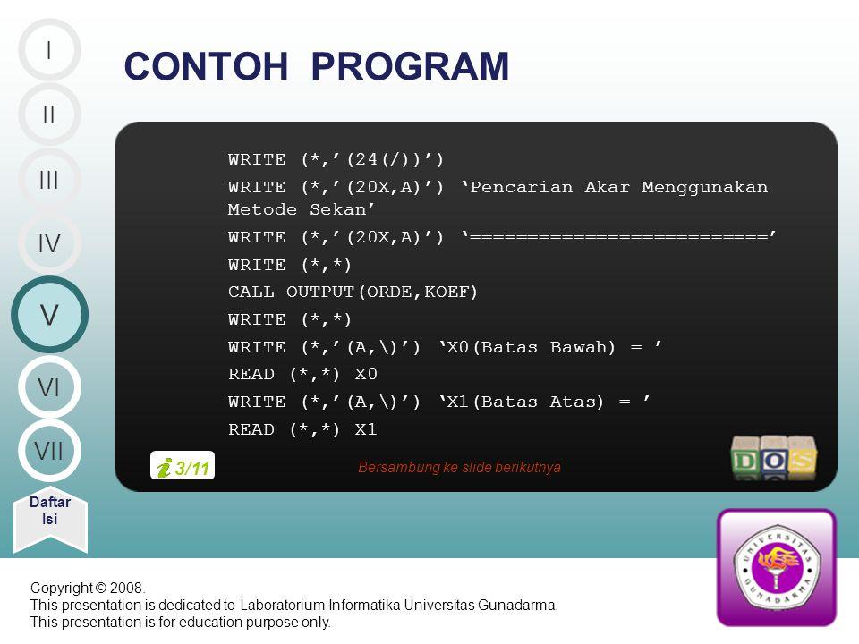 Bersambung ke slide berikutnya