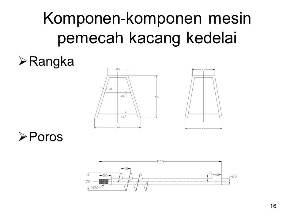Komponen-komponen mesin pemecah kacang kedelai