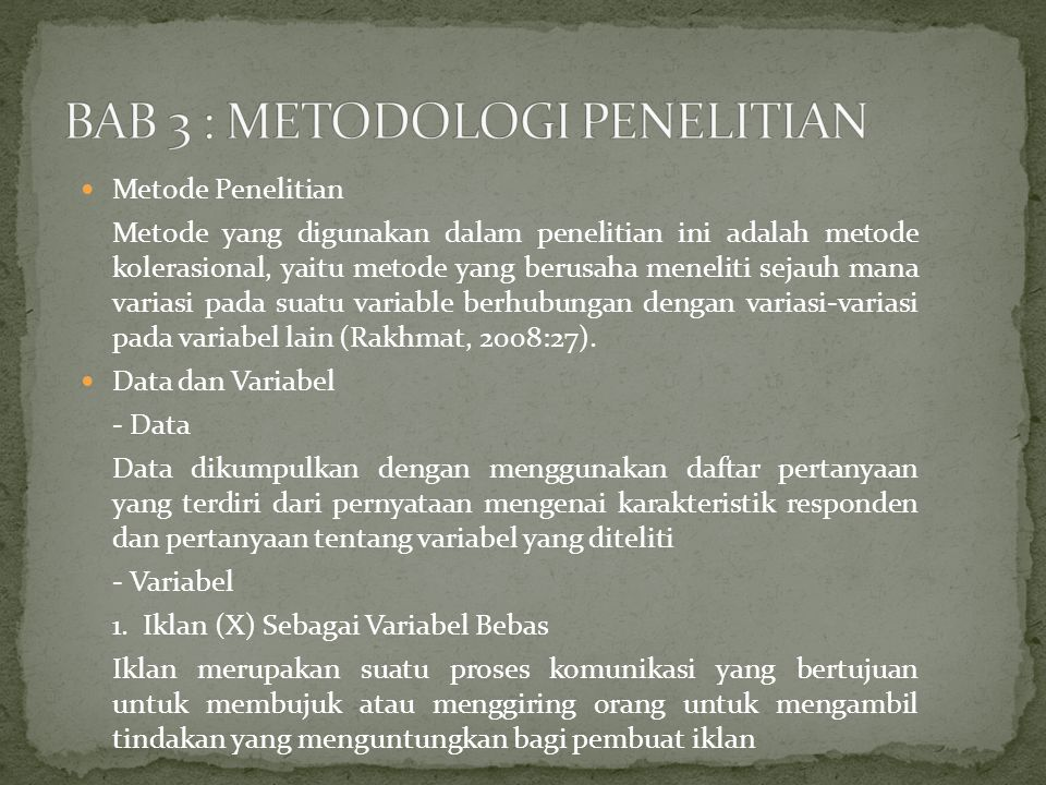 BAB 3 : METODOLOGI PENELITIAN