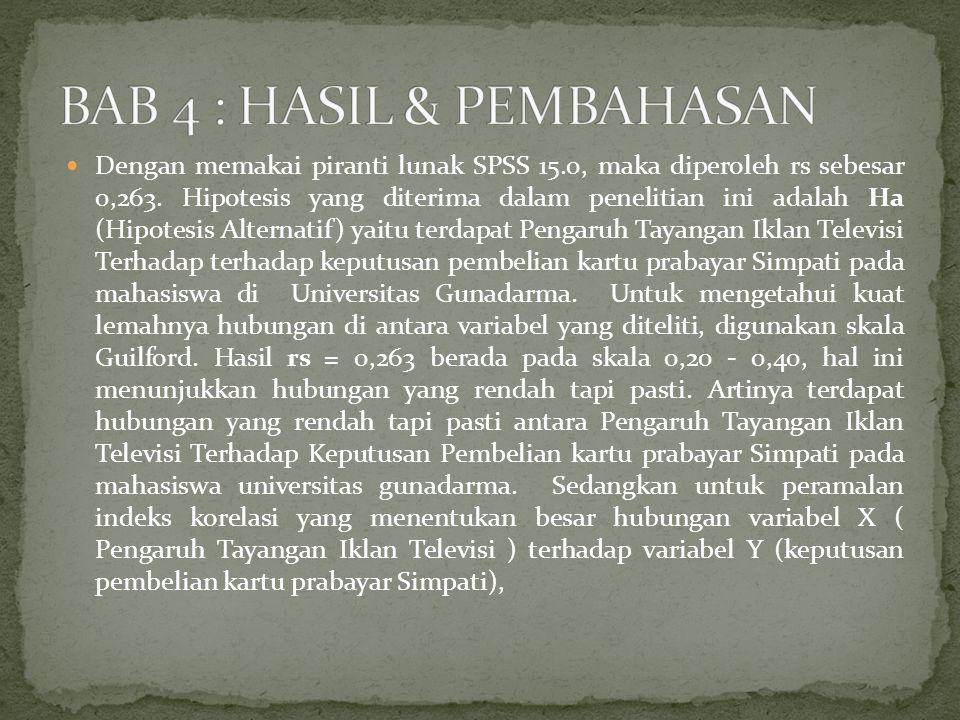 BAB 4 : HASIL & PEMBAHASAN