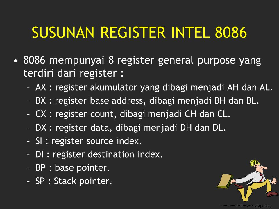 SUSUNAN REGISTER INTEL 8086