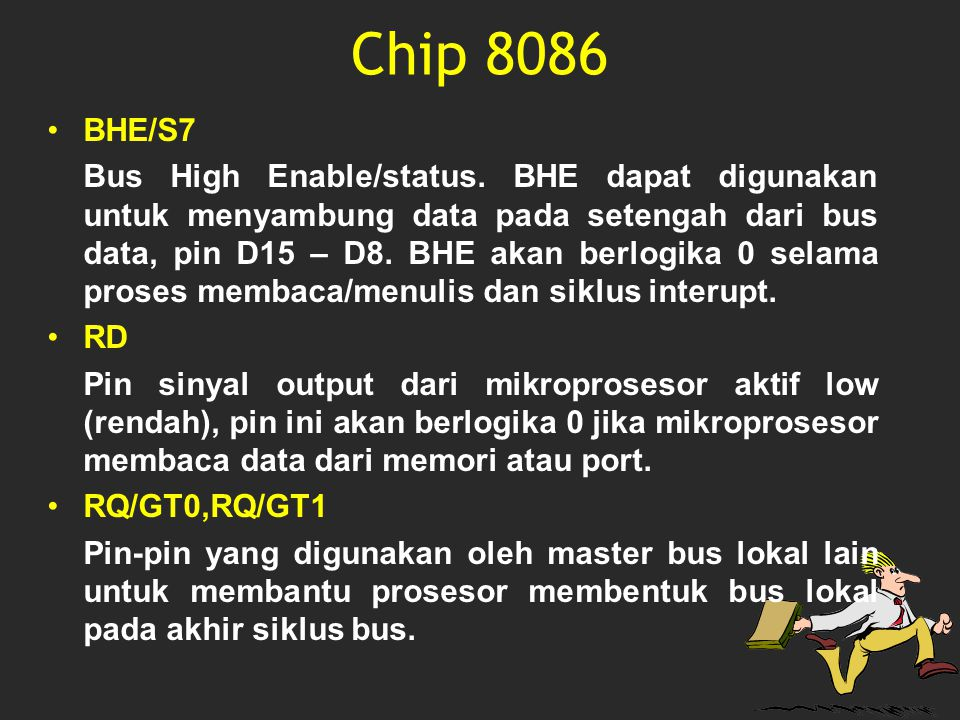 Chip 8086 BHE/S7.