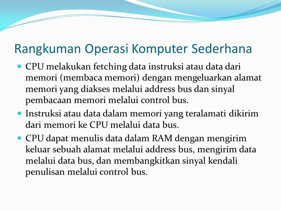 Rangkuman Operasi Komputer Sederhana